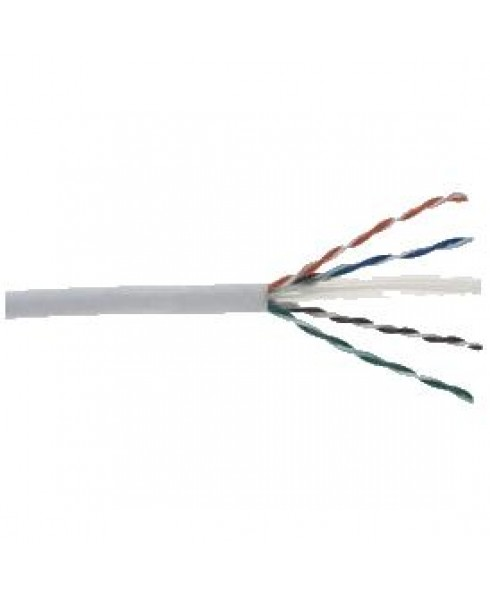 Structured Cable Products CAT6 Enhanced 550MHz 23 AWG Solid 4PR, UTP, PVC JKT- White 1000ft Box