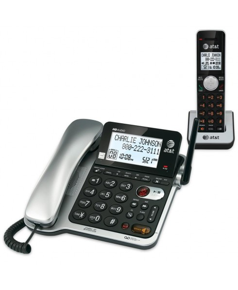 AT&T CL84102 Corded/Cordless Answering System with Call Waiting Caller ID