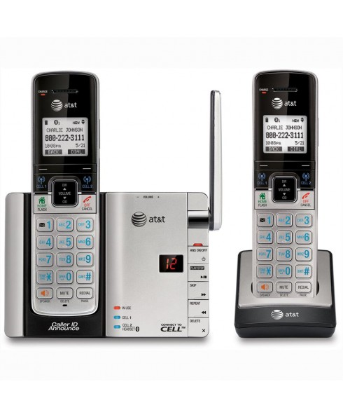 AT&T DECT 6.0 2-Handset Connect to Cell with Caller ID and Answering System