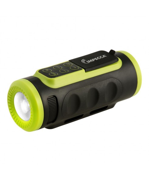 IMPECCA Bluetooth Bicycle Speaker with Headlight - Green