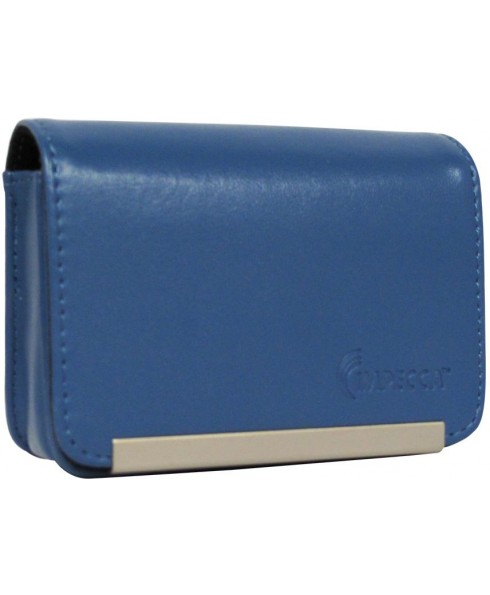 IMPECCA DCS86 Compact Leather Digital Camera Case - Blue