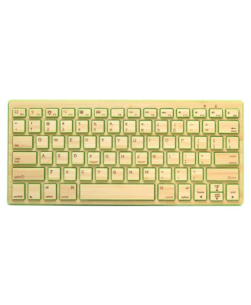 IMPECCA Compact Bluetooth Wireless Bamboo Keyboard, Green