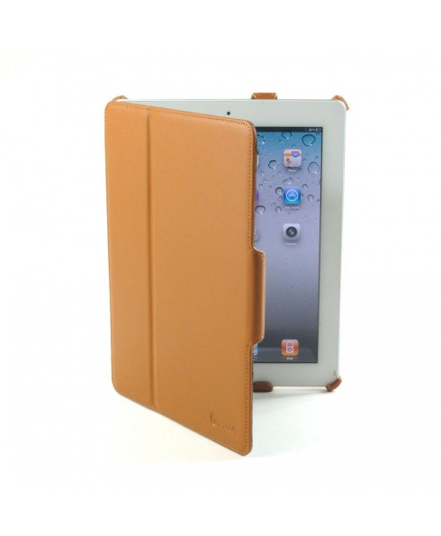 IMPECCA PCI312 Genuine Leather SlimFlip Case for Apple™‎ iPad2 & iPad3 - Brown
