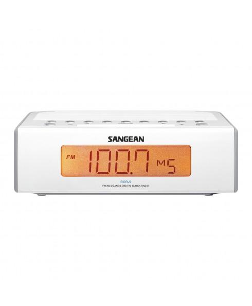 SANGEAN AM/FM DIGITAL CLOCK RADIO WHITE