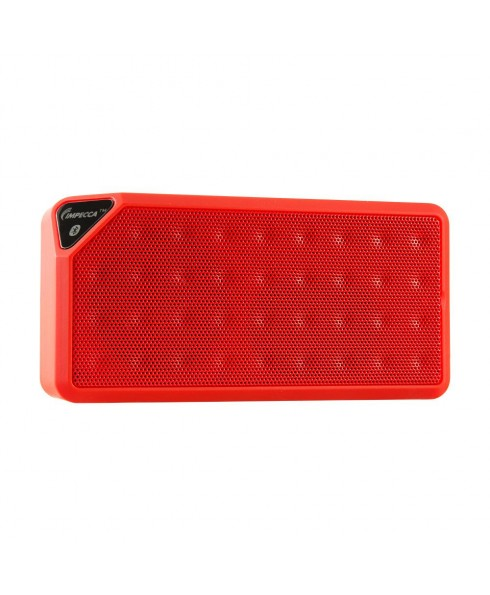 IMPECCA Portable Bluetooth Speaker with Aux Input - Red