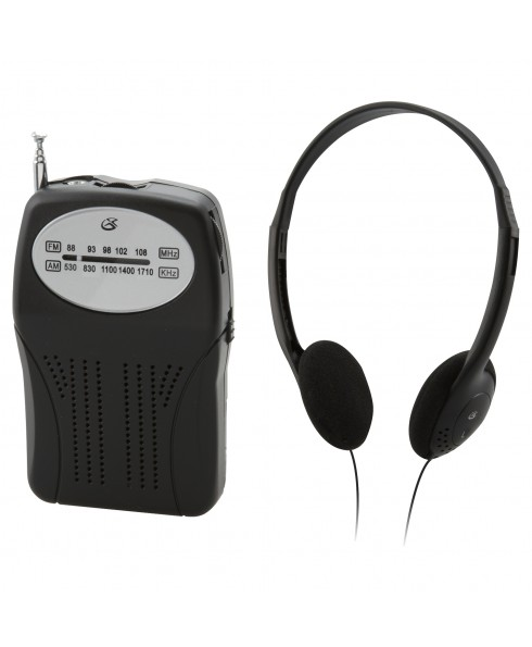 GPX PORTABLE HANDHELD AM/FM RADIO