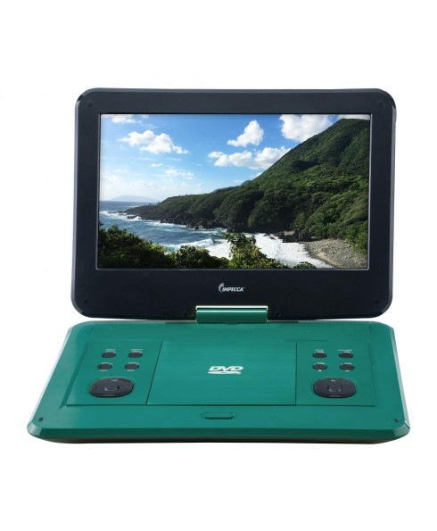 IMPECCA 13.3-inch 180-degree Widescreen Portable DVD Player, Tropical Teal