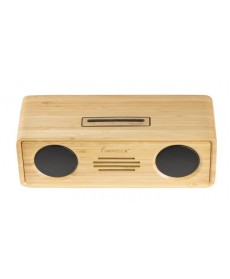 IMPECCA 6-Watt Powerful Bluetooth Bamboo Hi-Fi Stereo Speaker System
