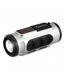 IMPECCA Bluetooth Bicycle Speaker with Headlight - Silver