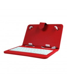IMPECCA Mini Keyboard Case & Stand For 7 Inch Tablets - Red