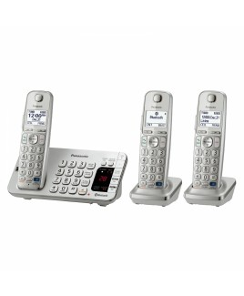 Panasonic Link2Cell Bluetooth Phone with Talking Caller ID and Dig. Answering System 3-Cordless Handsets