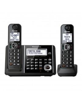 Panasonic DECT 6.0+ 2-Handset Cordless Phone, Talking Caller ID and Answering Machine