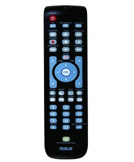 RCA RCRN03BR 3-Device Universal Remote Control with Green Partially Backlit Keypad