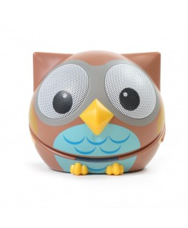 Zoo-Tunes Compact Portable Bluetooth Stereo Speaker, Owl