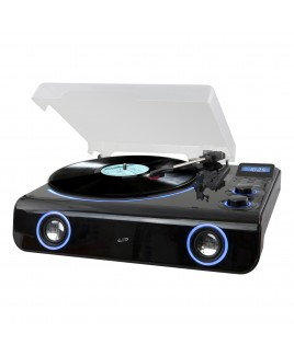 iLive Wireless Turntable with FM Radio and LED Light Effects