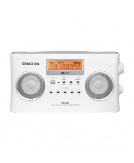 Sangean AM/FM-Stereo RBDS Digital Tuning Portable Receiver, White