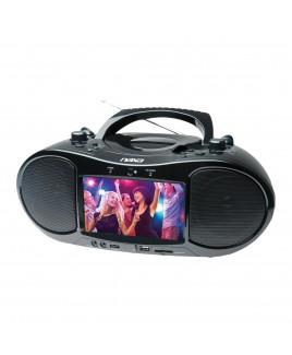 Naxa Bluetooth DVD/CD/MP3 Boombox and TV with 7 inch LCD