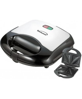 Brentwood TS-240B Sandwich Maker Brushed Stainless Steel and Black Finish