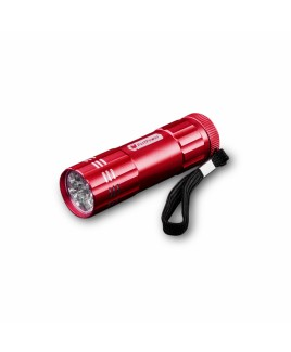 PerfPower 9 LED Water Resistant Flashlight, Red