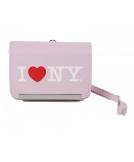 I Love NY DCS86 Compact PU Leather Digital Camera Case Pink