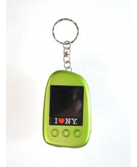 """I Love NY DPV151 1.5"""" Digital Photo Keychain Hold up to 107 Photos - Green"""