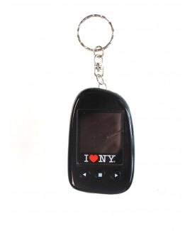 """I Love NY DPV151 1.5"""" Digital Photo Keychain Hold up to 107 Photos - Black"""