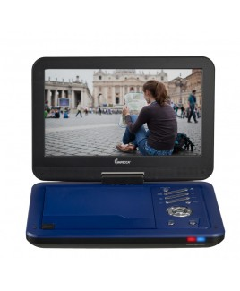 IMPECCA Portable DVD Player with 10.1 inch Swivel Screen - Burnished Cobalt (Blue)
