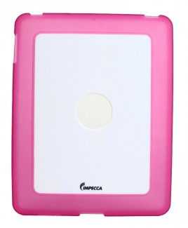 IMPECCA IPS101 Flexi-Clear TPU/Crystal Combination Protective Skin for iPad™ - Pink