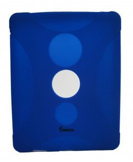 IMPECCA IPS130 Shock Protective Heavy Duty Rubber Skin for iPad™ - Dark Blue