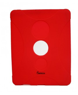 IMPECCA IPS130 Shock Protective Heavy Duty Rubber Skin for iPad- Red