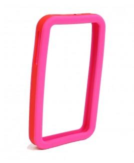 IMPECCA IPS226 Secure Grip Rubber Bumper Frame for iPhone 4™ <em>Dual Color</em> - Pink/Red