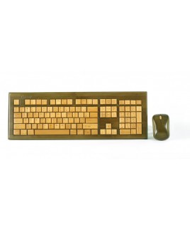 IMPECCA KBB603CW Wireless Hand-Carved Designer Bamboo Keyboard - Walnut Color