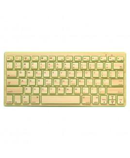 IMPECCA Compact Bluetooth Wireless Bamboo Keyboard, Green