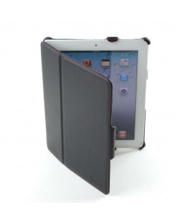 IMPECCA PCI312 Genuine Leather SlimFlip Case for Apple™‎ iPad2 & iPad3 - Black