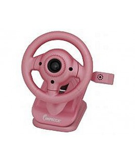 IMPECCA WC100 Steering Wheel Webcam with Built-in Mic Pink