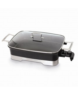 Kung Fu 10.5 QT Electric Skillet with Cover