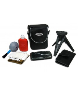 Lenmar Digital Camera Starter Kit: Tripod, Case, Card Reader, Cleaning Kit, Media Case