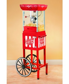 Nostalgia 48 Inch Old Fashioned Popcorn Cart