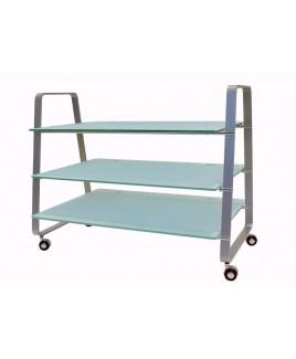 OmniMount 3-Shelf TV/Video Stand in Grey