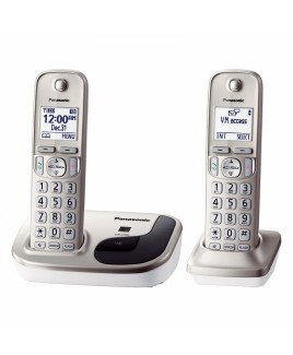 Panasonic Expandable Digital Cordless Phone with 2 Handsets