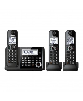 Panasonic DECT 6.0+ 3-Handset Cordless Phone, Talking Caller ID and Answering Machine
