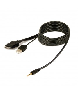 Peripheral / PAC USB iPod Cable for Pioneer AVH-P6300BT, AVH-P3300BT, AVH-P2300DVD, MVH-P8300BT & MVH-P7300 receivers