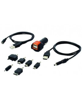 Peripheral / PAC GPS DUAL USB Power Adapter Plug with Adapters and USB Cable for Cell Phones