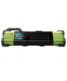 Pioneer STEEZ DUO 4GB Portable Music System with Headphones, Black/Green