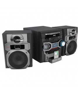RCA 300-Watts 5-CD/MP3 Changer AM/FM Mini System with iPod Dock