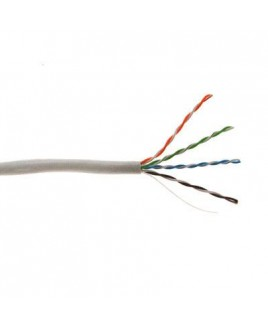 Structured Cable Products CAT5E 350MHz 24 AWG Solid 4PR UTP, PVC JKT- White- 1000 FT Box