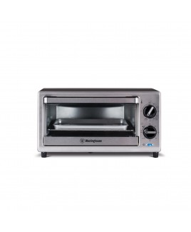 Westinghouse 4 Slice Stainless Steel Toaster Oven, 200F - 450F Adjustable Temperature Control
