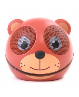 Zoo-Tunes Cocoa-the-Bear Compact Portable Character Stereo Speaker