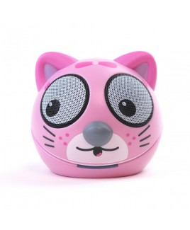 Zoo-Tunes Taffy-the-Kitten Compact Portable Character Stereo Speaker
