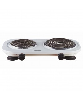 Brentwood Electric White Double Burner